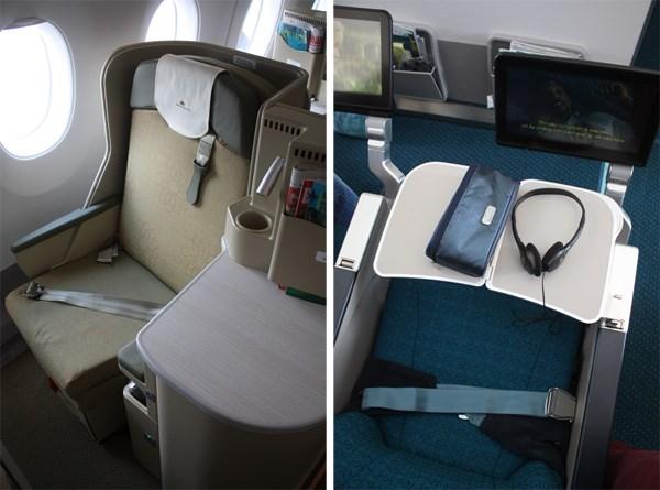 Bên trong máy bay Vietnam Airlines