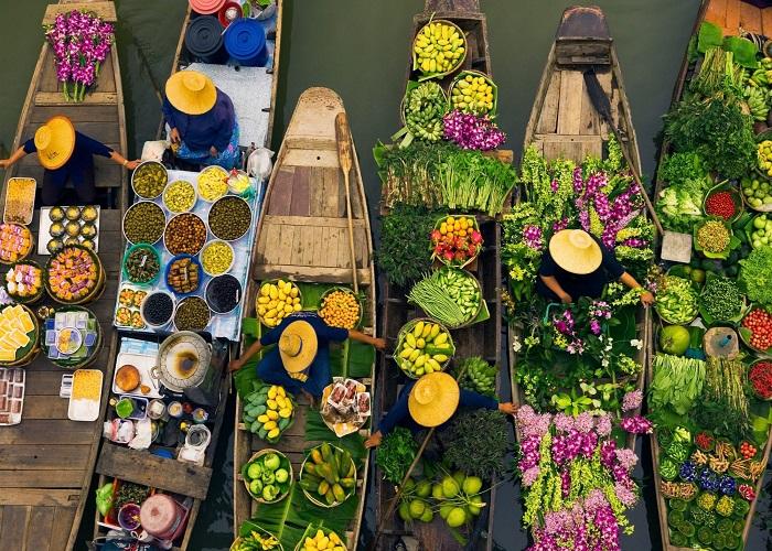Chợ nổi Bốn Miền Thái Lan