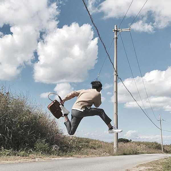 cách tạo dáng chụp ảnh - tư thế nhảy cao độc lạ