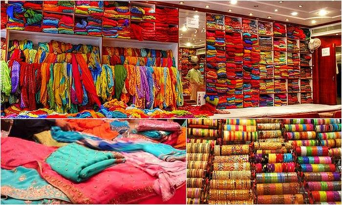 Khu chợ địa phương mua quà lưu niệm đậm chất Ấn