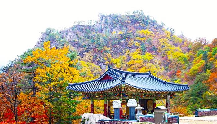 Vườn quốc gia núi Seoraksan bắt đầu vào thu