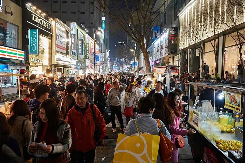 khu mua sắm myeodong