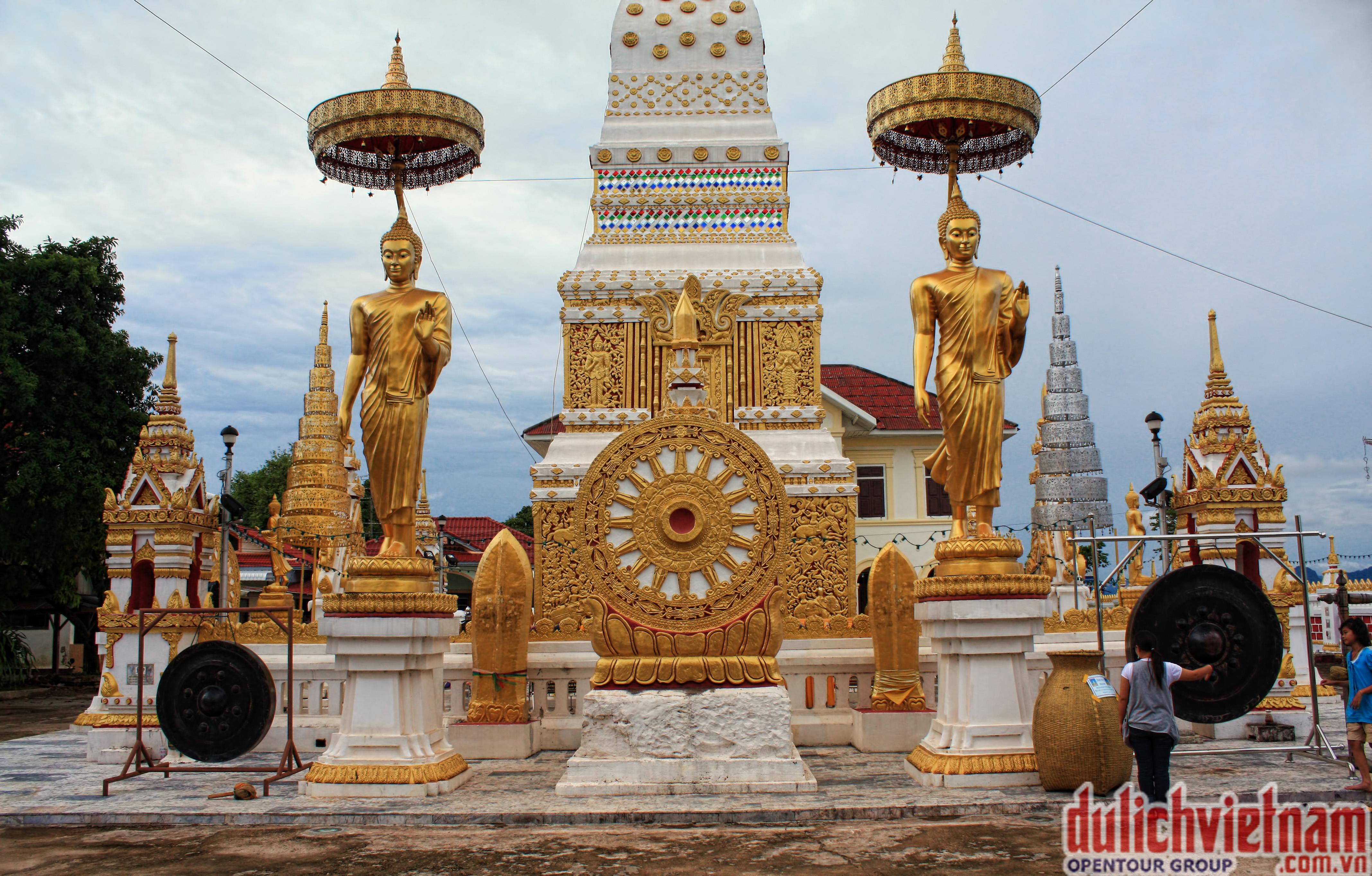 Chùa Xayyaphum - nơi nổi tiếng linh thiêng và là trung tâm văn hóa tâm linh vùng trung Lào.