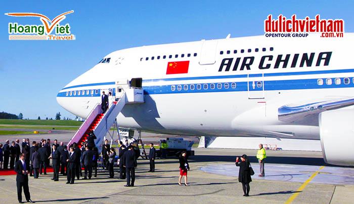 Chuyên cơ Air China được sử dụng để chở các nguyên thủ.