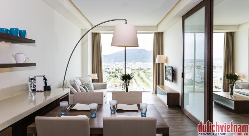 Phòng khách của khách sạn A La Carte Đà Nẵng