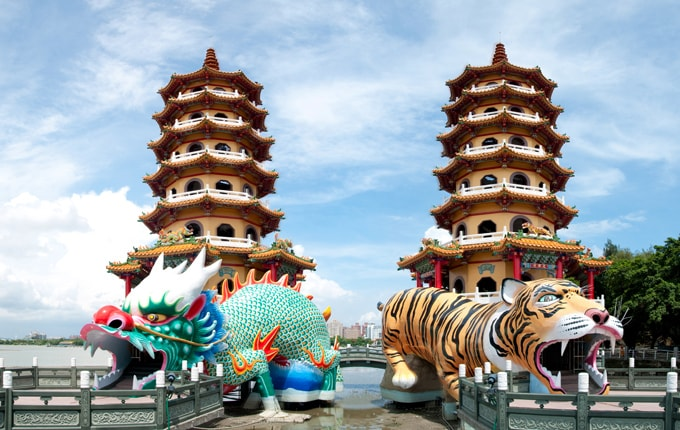Kết quả hình ảnh cho Đầm Liên Trì ở Đài Loan