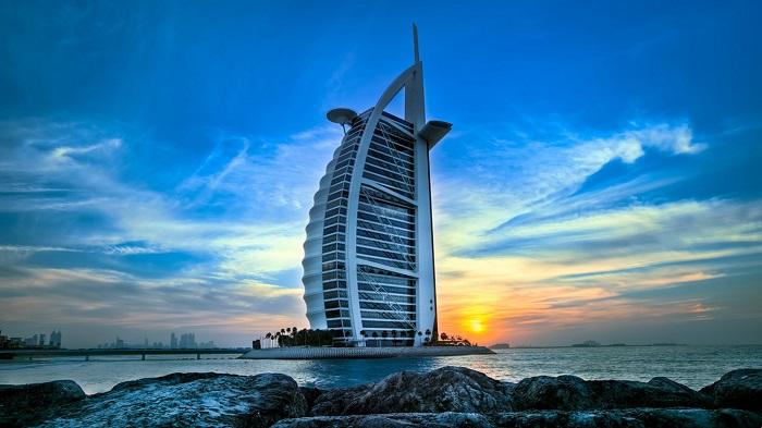 Toàn cảnh khách sạn 7 sao Burj Al Arab