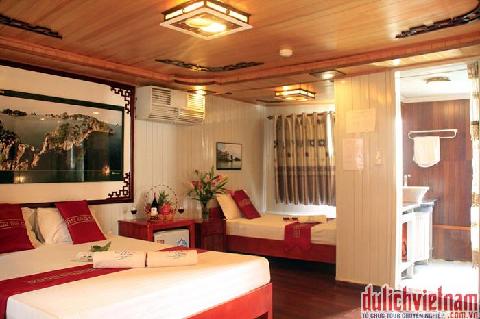 Phòng gia đình của du thuyền Monkey Island Cruise