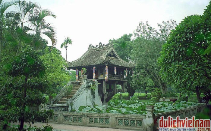 Chùa Một Cột - công trình kiến trúc nổi tiếng ở Hà Nội