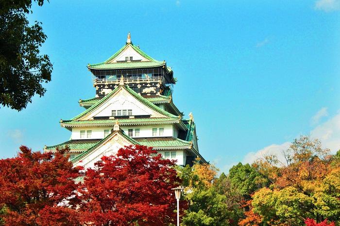 Kết quả hình ảnh cho Hoàng cung Nhật Bản mùa thu