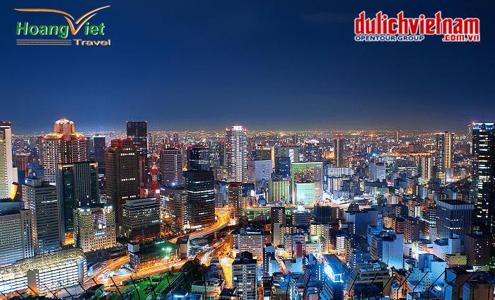 thành phố Osaka về đêm