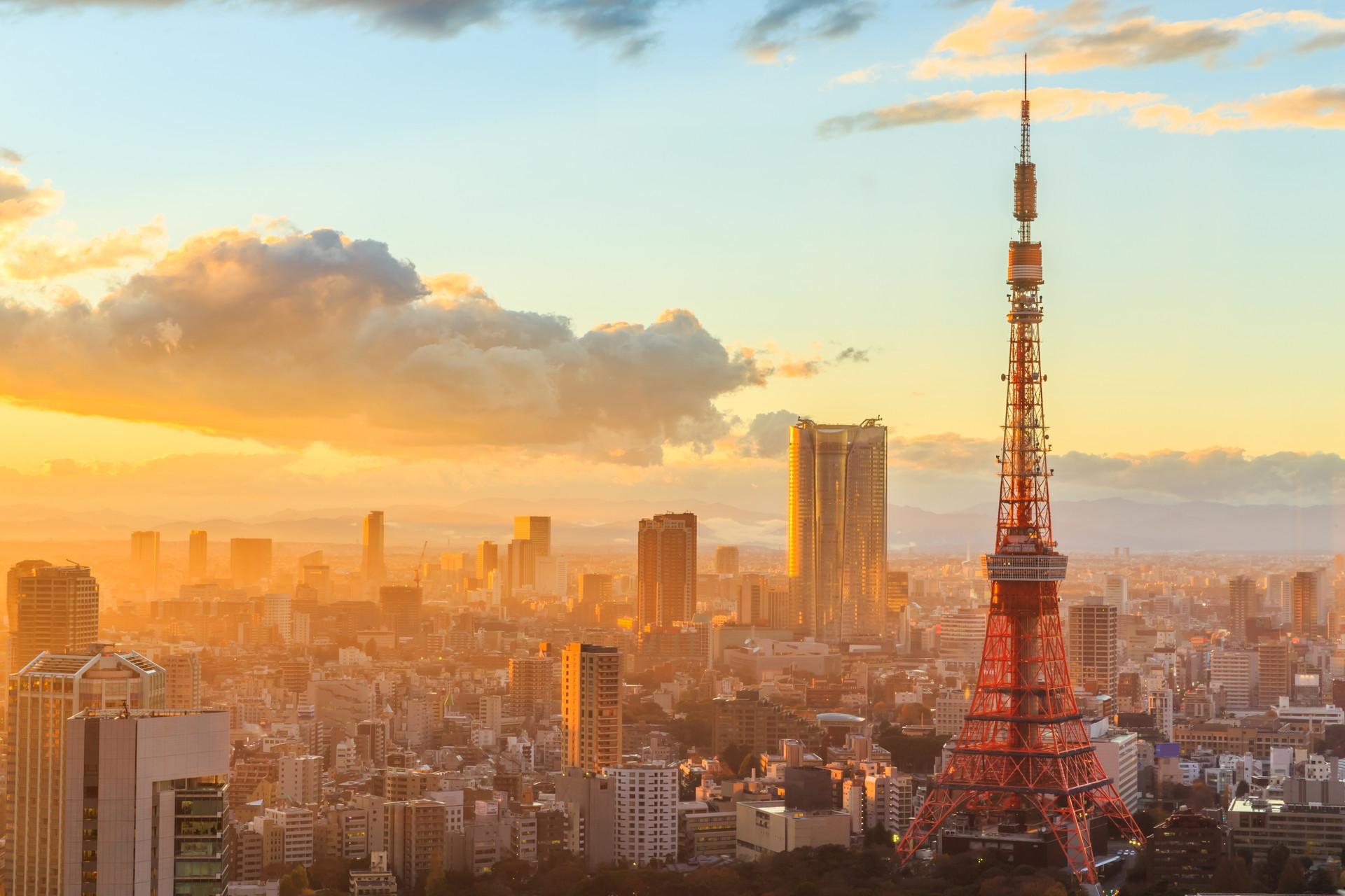 Kết quả hình ảnh cho Tòa tháp truyền hình Tokyo.