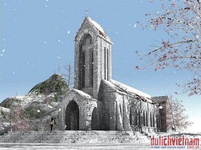 Nhà thờ đá cổ ở Sapa