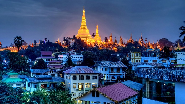 Thành phố Yangon xinh đẹp về đêm