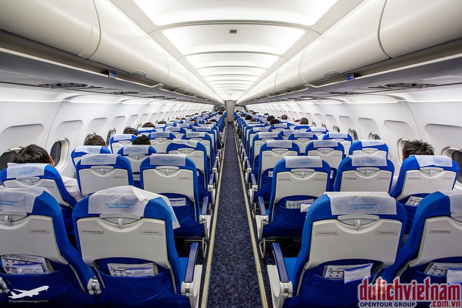 Khu vực cabin trên máy bay